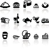 Food vector icons set . EPS10.