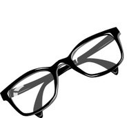 The view of eyeglass