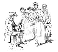 Fiddle player with unhappy audience