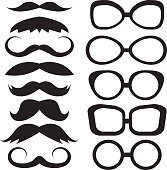 Set glasses and mustache