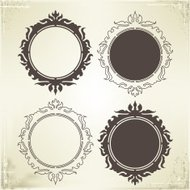 Vector Frame and Border on Vintage Background