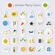 Sticker Party icons .Vector design