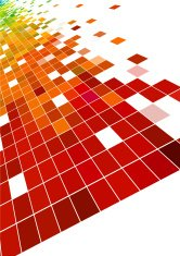 abstract color check technology pattern background