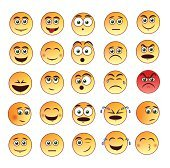Smiley faces emoticon set