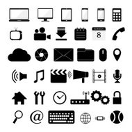 vectour of various web icon