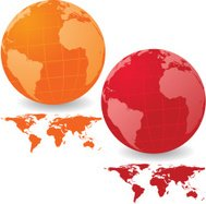 Vibrant Atlantic Globe Set with Map Series
