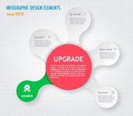 Modern Simply infographic step by step template