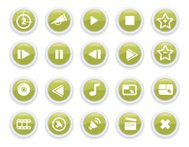 Glass Media Icons