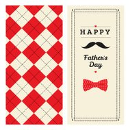 Happy father's day greeting card with pattern