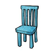 cartoon wooden chair