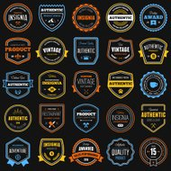 Badge and label collection