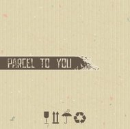 Parcel to you - abstract background