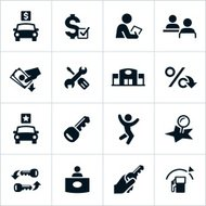 Vector illustration of car dealership icons