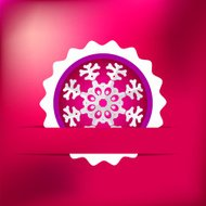 Christmas snowflake on red purple . + EPS8