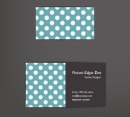 Dotted business card design. Simply flat concept. Vector.