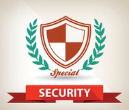 Security badge,vector