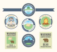 Camping and nature design elements