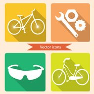 Vector icons bicycle for infographics etc