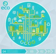 Eco city infographics