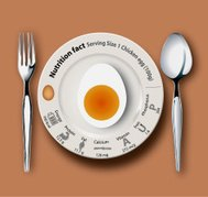 Nutrition fact chicken egg