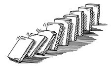Domino Effect Drawing