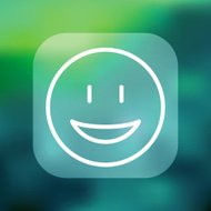 Superlight Interface Smiley Face Icon