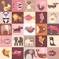Animals, Fishes and Birds