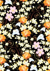 Black Floral Wallpaper
