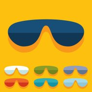 Flat design: sunglasses