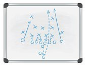 football tactic on whiteboard