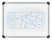 hockey tactic on whiteboard