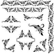 Vector set of borders, decorative elements.