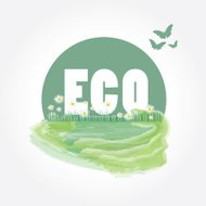 Green eco friendly - abstract background