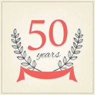 Fifty years anniversary sign