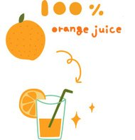 The view of orange juice