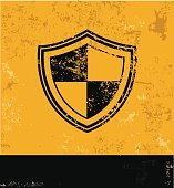 Security badge design on old background,vector
