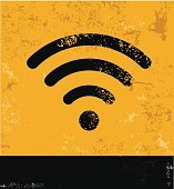 Wireless design on old background,vector