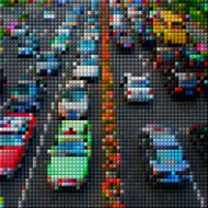 abstract colorful mosaic check transportation pattern background
