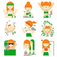 Healthy lifestyle and wellness flat icons