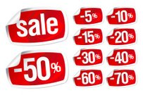 red stickers for discount sale