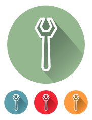 Superlight Flat Design Interface Wrench Icon