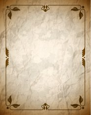 Crumpled brown frame with ornament
