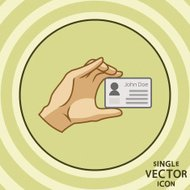 Single vector color flat icon. Business card.