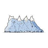 cartoon mountain range