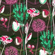 Retro pattern with flowers.
