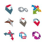Abstract creative business icons vector