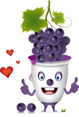 grapes with heart.vector