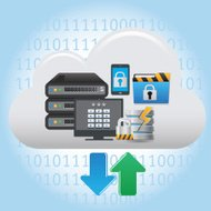 cloud computing, servers, database, and file sharing
