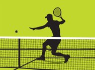 Tennis Player - Volley Background