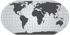 all coontinents defined worldmap with grid